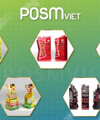 Chuyên sản xuất POSM, Booth, Quầy Kệ Quảng Cáo