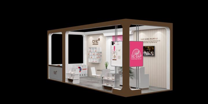 Chuyên thiết kế gian hàng triển lãm tại Sơn La